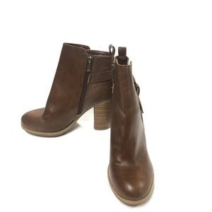 Aldo x Target A+ Stacked Heel Brown Boots Size 7.5